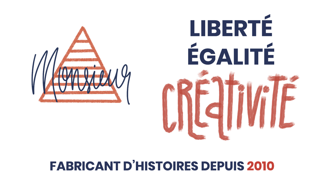 En-tête Monsieur A Liberté, égalité, créativité